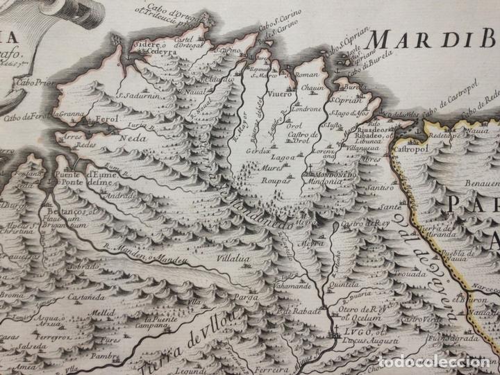 Arte: Gran mapa de Galicia y Asturias (España), 1696. Rossi/Cantelli/Barbey - Foto 5 - 148203053