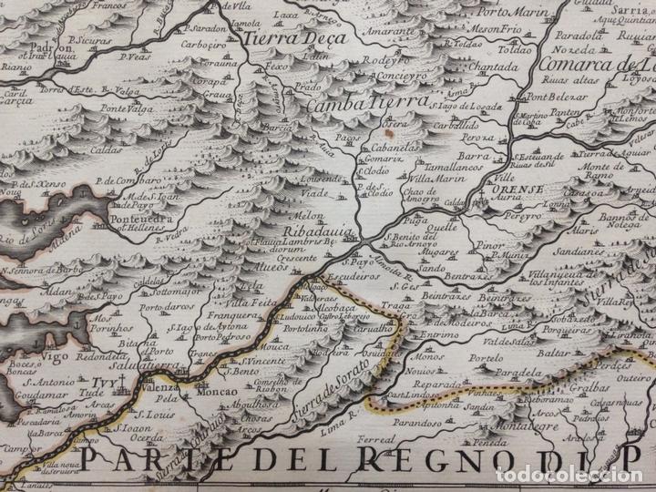 Arte: Gran mapa de Galicia y Asturias (España), 1696. Rossi/Cantelli/Barbey - Foto 7 - 148203053