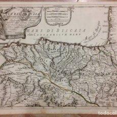 Arte: GRAN MAPA DE CANTABRIA Y PAIS VASCO (ESPAÑA), 1696. ROSSI/CANTELLI/BARBEY. Lote 148207093