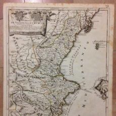 Arte: GRAN MAPA DE VALENCIA Y MURCIA (ESPAÑA), 1696. ROSSI/CANTELLI/BARBEY. Lote 148215240