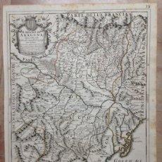 Arte: GRAN MAPA DE ARAGÓN, VALENCIA Y CATALUÑA (ESPAÑA), 1696. ROSSI/CANTELLI/BARBEY. Lote 148217446