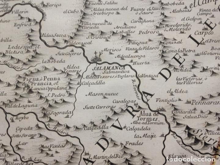 Arte: Gran mapa de León (España, 1696. Rossi/Cantelli/Barbey - Foto 5 - 148221234