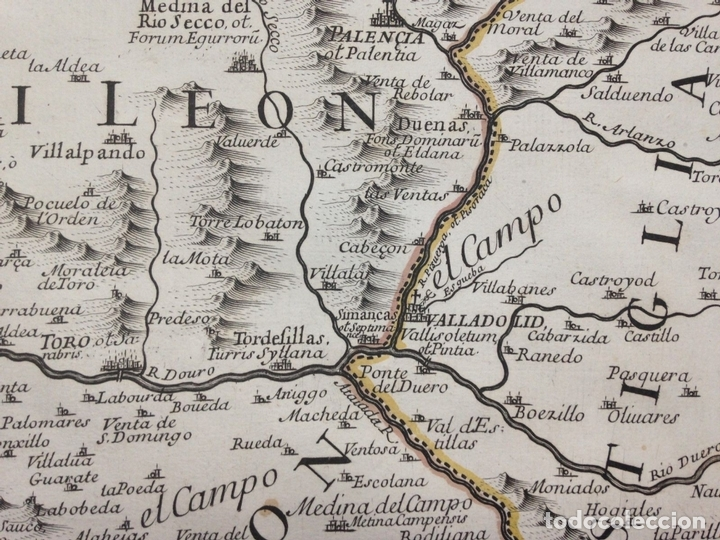 Arte: Gran mapa de León (España, 1696. Rossi/Cantelli/Barbey - Foto 6 - 148221234