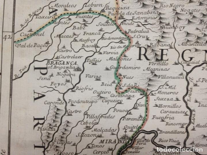 Arte: Gran mapa de León (España, 1696. Rossi/Cantelli/Barbey - Foto 7 - 148221234