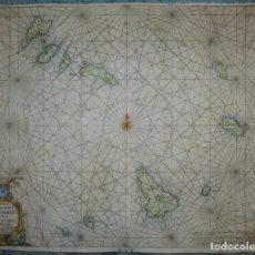 Arte: GRAN CARTA NÁUTICA DE LAS ISLAS DE CABO VERDE (ÁFRICA OCCIDENTAL), 1660. CASPAR LOOTSMAN. Lote 148433030