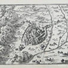 Arte: GRABADO DE MONTBLANC - TARRAGONA - BEAULIEU - AÑO 1707 - ES ORIGINAL. Lote 148457570