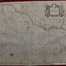 Arte: GRAN MAPA ISLAS DE CABO VERDE, CANARIAS (ESPAÑA), MADEIRA Y AZORES (PORTUGAL) , 1666. PIETER GOOS. Lote 148572826