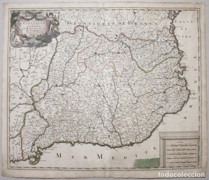 GRAN MAPA DE CATALUÑA (ESPAÑA), HACIA 1700. G. VALCK (Arte - Cartografía Antigua (hasta S. XIX))