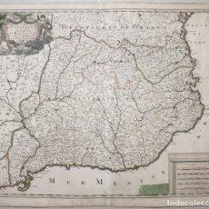 Arte: GRAN MAPA DE CATALUÑA (ESPAÑA), HACIA 1700. G. VALCK. Lote 148614144