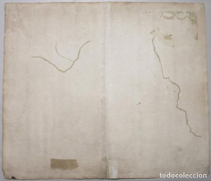 Arte: Gran mapa de Cataluña (España), hacia 1700. G. Valck - Foto 6 - 148614144