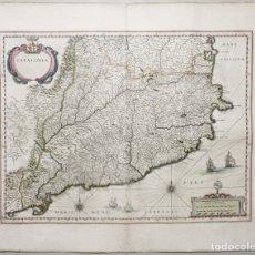 Arte: GRAN MAPA DE CATALUÑA (ESPAÑA), HACIA 1634. W. JANSSZOOM BLAEU. Lote 148615822