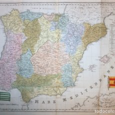 Arte: GRAN MAPA DE ESPAÑA Y PORTUGAL, 1845. MARMOCCHI/BATELLI. Lote 148618750