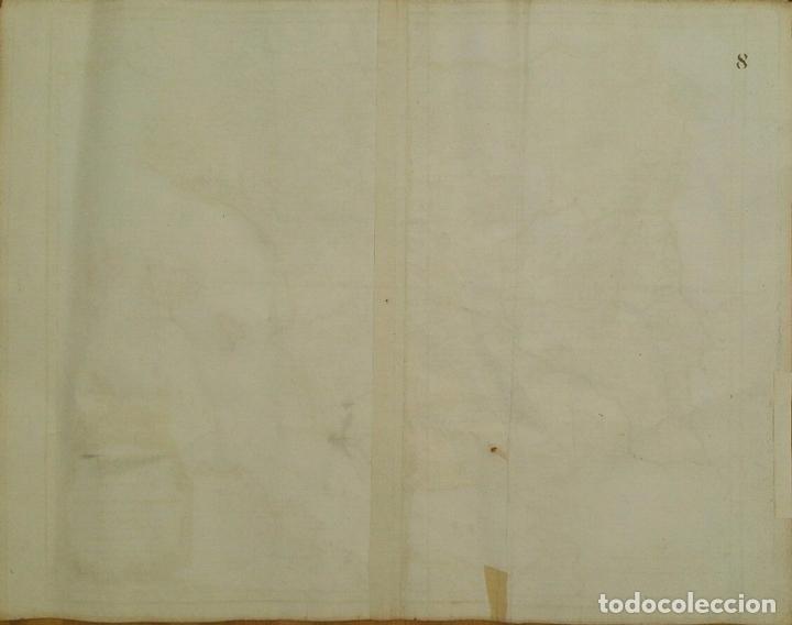 Arte: Gran mapa de España y Portugal en época romana (Hispania antiqua), 1750. Sanson/ Vaugondy - Foto 4 - 148621420