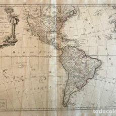 Arte: GRAN MAPA DE AMÉRICA DEL NORTE, CENTRO Y SUR, 1778. JANVIER/SANTINI/REMONDINI. Lote 148663345