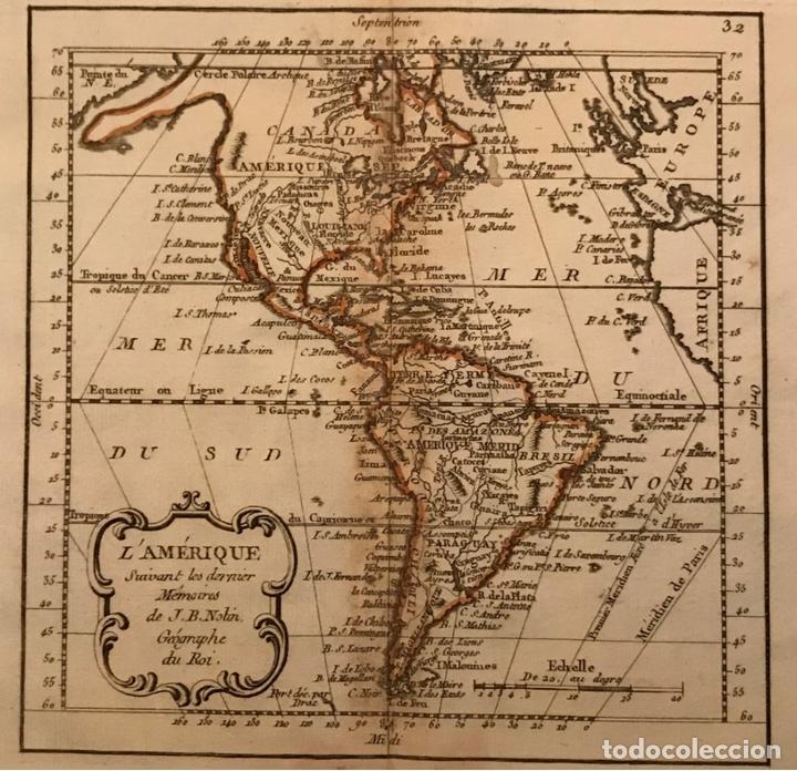MAPA DE AMÉRICA DEL NORTE, CENTRO Y SUR, 1791. J. B. NOLIN (Arte - Cartografía Antigua (hasta S. XIX))