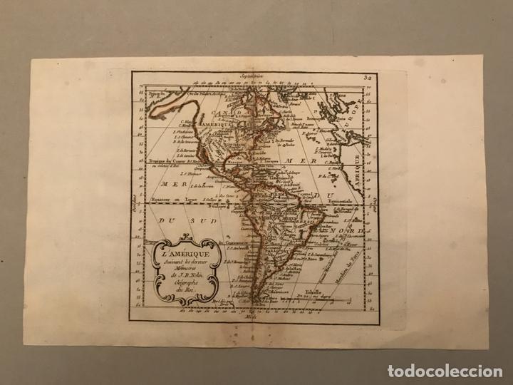 Arte: Mapa de América del norte, centro y sur, 1791. J. B. Nolin - Foto 2 - 148961485
