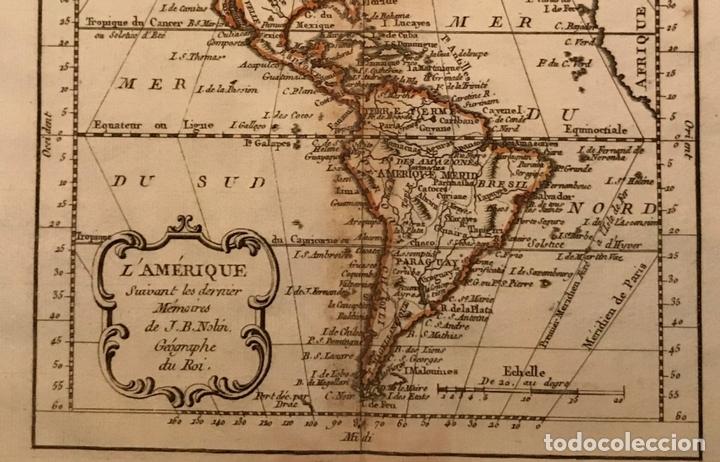Arte: Mapa de América del norte, centro y sur, 1791. J. B. Nolin - Foto 4 - 148961485