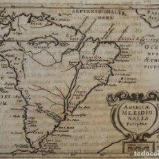 Arte: MAPA DE AMÉRICA DEL SUR, 1643. MORISOT. Lote 149296766