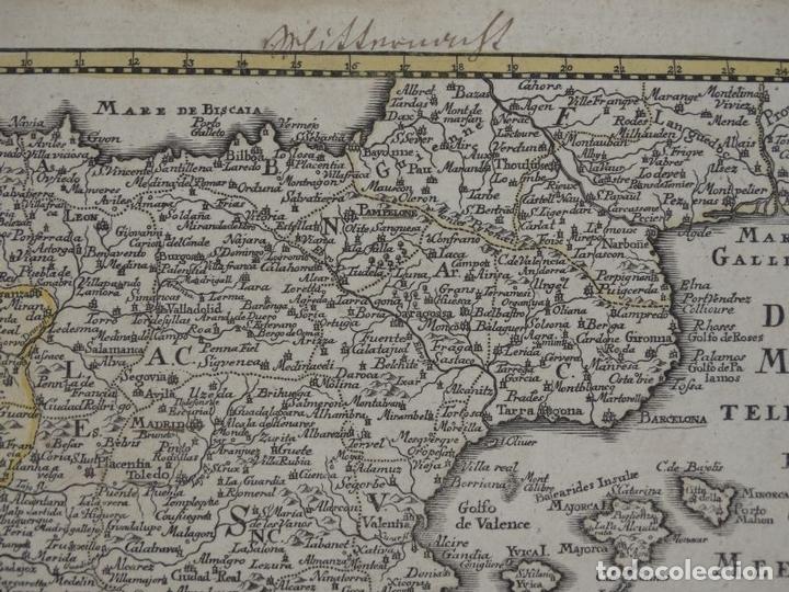 Arte: Mapa de España y Portugal, 1720. Schreiber - Foto 7 - 149394785