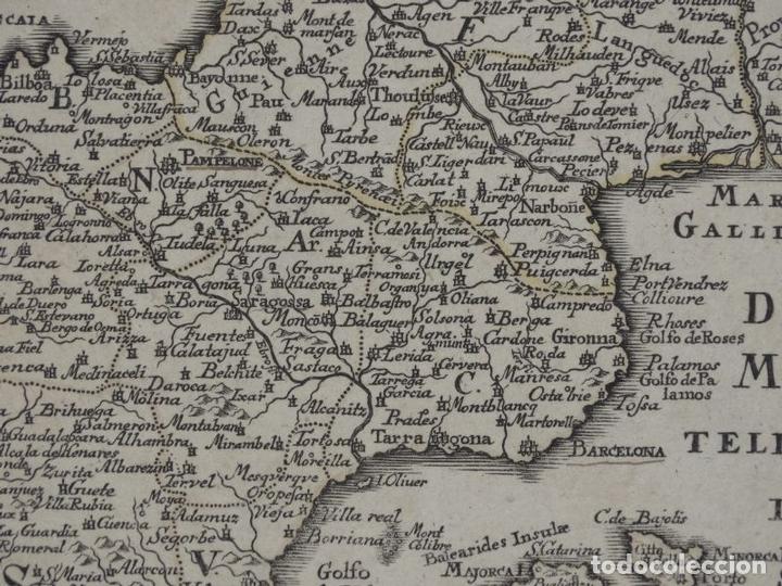 Arte: Mapa de España y Portugal, 1720. Schreiber - Foto 10 - 149394785