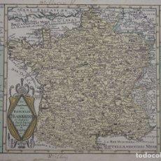 Arte: MAPA DE FRANCIA, 1720. SCHREIBER. Lote 149395544
