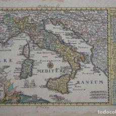 Arte: MAPA DE ITALIA E ISLAS DE SICILIA, CÓRCEGA Y CERDEÑA (EUROPA), 1720. SCHREIBER. Lote 149395938
