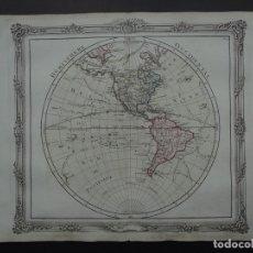 Arte: MAPA DE AMÉRICA DEL NORTE, CENTRO Y SUR, 1766. BRION DE LA TOUR/DESNOS. Lote 149506273