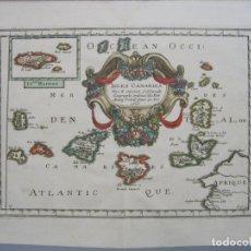 Arte: MAPA DE LAS ISLAS CANARIAS Y MADEIRA (ESPAÑA Y PORTUGAL), 1656. NICOLÁS SANSON. Lote 149621237