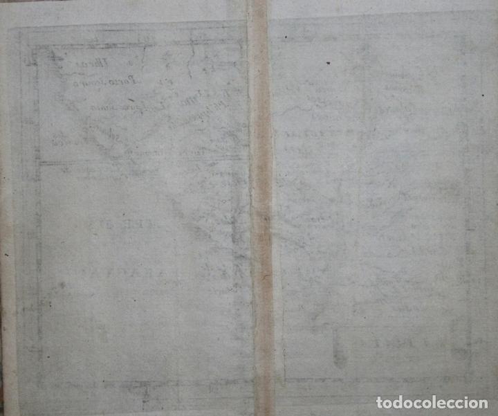 Arte: Mapa de Uruguay, Argentina, Brasil,..(América del sur), 1664. Pierre du Val - Foto 2 - 149860864