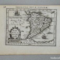 Arte: MAPA DE AMÉRICA DEL SUR, 1616. BERTIUS/HONDIUS. Lote 149867953