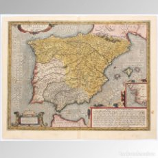 Arte: MAPA DE ESPAÑA (ORTELIUS S.XVI) - A. ORTELIUS. Lote 149949322