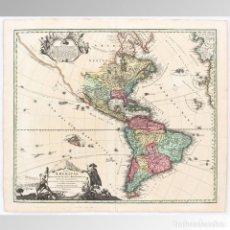 Arte: MAPA DE ÁMERICA (1720) - J. B. HOMANN. Lote 149949330