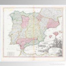Arte: MAPA DE ESPAÑA (HOMANN 1730) - HOMANN, JOHANN BAPTIST (1663-1724). Lote 149949346