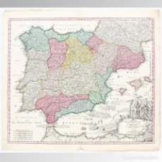 Arte: MAPA DE ESPAÑA (HOMANN 1730) - HOMANN, JOHANN BAPTIST (1663-1724). Lote 149949350