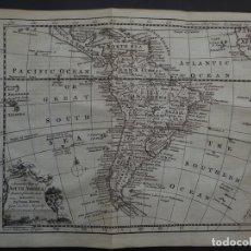Arte: MAPA DE AMÉRICA DEL SUR, 1754. E. BOWEN. Lote 150001776