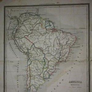Mapa de América Meridional por Ramón Alabern