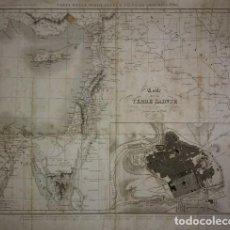 Arte: 1837 MAPA DE LA TIERRA SANTA Y PLANO DE JERUSALÉN. P.TARDIEU. CARTE DE LA TERRE SAINTE. Lote 117586135