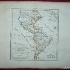 Arte: MAPA DE AMÉRICA DEL NORTE, CENTRO Y SUR, 1795. VAUGONDY/DELAMARCHE. Lote 150474306