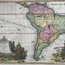 Arte: MAPA DE AMÉRICA DEL SUR, HACIA 1740. DELISLE/GEBAUER. Lote 150610094