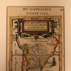 Arte: MAPA DE AMÉRICA DEL SUR, 1683. A. MALLET. Lote 150672474