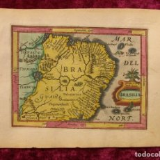 Arte: MAPA DE BRASIL, 1637. BERTIUS/BLAEU. Lote 150757146