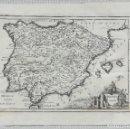 Arte: MAPA DE ESPAÑA Y PORTUGAL - ANTIENT SPAIN - AÑO 1744 - ES ORIGINAL. Lote 151115194