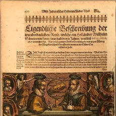 Arte: MAPA DEL MUNDO Y SUS HEMISFERIOS, 1617. T. DE BRY. Lote 151332434