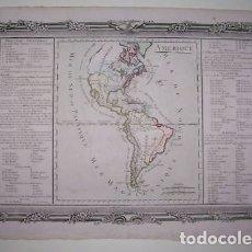Arte: MAPA DEL AMÉRICA DEL NORTE, CENTRO Y SUR, 1761. DESNOS. Lote 151582497