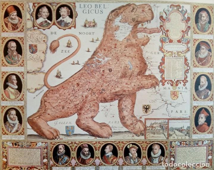LÁMINA LEO BELGICUS MAPA ANTIGUO REGIÓN HIS PAÍSES BAJOS (Arte - Cartografía Antigua (hasta S. XIX))