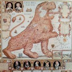 Arte: LÁMINA LEO BELGICUS MAPA ANTIGUO REGIÓN HIS PAÍSES BAJOS. Lote 151888846