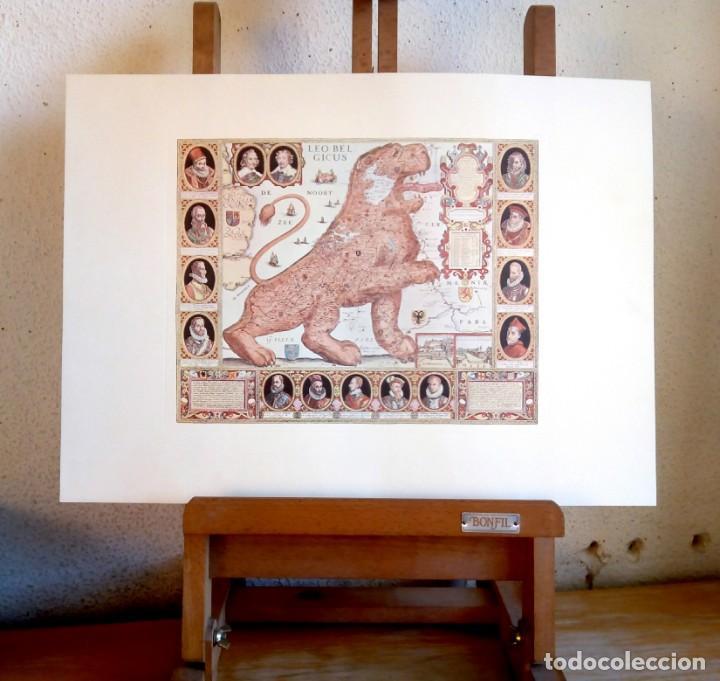 Arte: Lámina LEO BELGICUS Mapa Antiguo Región His Países Bajos - Foto 2 - 151888846