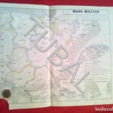 Arte: TUBAL 1852 MAPA MILITAR DE ESPAÑA + TEXTO EXPLICATIVO. Lote 152353306