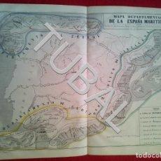 Arte: TUBAL 1852 MAPA DEPARTAMENTAL DE LA ESPAÑA MARÍTIMA + TEXTO EXPLICATIVO. Lote 152353618
