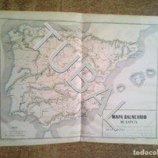 Arte: TUBAL 1852 SENSACIONAL MAPA DE ESPAÑA MÉDICO HISTÓRICO, MEDICINA + 140 PGS DE TEXTO EXPLICATIVO. Lote 152355438
